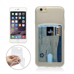 iPhone 6 PLUS / 6S PLUS Silikon Case mit Karte Slot - Transparent
