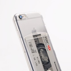 iPhone 6/6S Coque avec porte-carte - Transparent