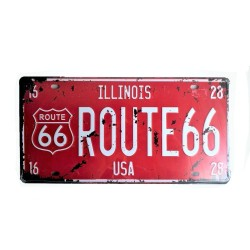 License plate, metal sheet metal poster for decoration - Route 66