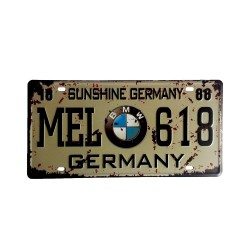 License plate, metal sheet metal poster for decoration - BMW
