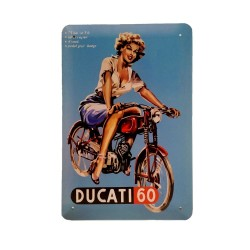 Vintage metal poster for decoration, metal sign - Ducati 60