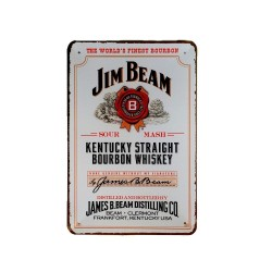 Vintage metal poster for decoration, metal sign – Jim Beam