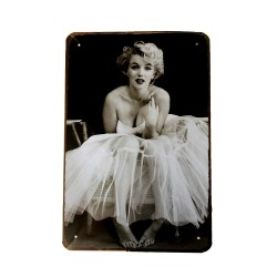 Vintage metal poster for decoration, metal sign - Marilyn Monroe Up
