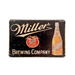 Vintage metal poster for decoration, metal sign - Miller