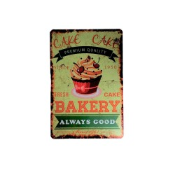 Vintage metal poster for decoration, metal sign - Cake Bakery