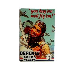 Vintage metal poster for decoration, metal sign - Defense