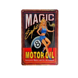 Vintage metal poster for decoration, metal sign - Magic Motor Oil