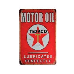 Vintage metal poster for decoration, metal sign - Motor Oil Texaco