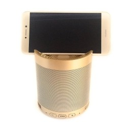 Multifunction wireless speaker with bluetooth, gold