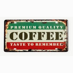 License plate, metal sheet metal poster for decoration – Coffee