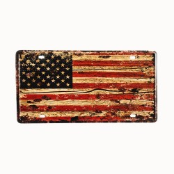 License plate, metal sheet metal poster for decoration – USA Flag