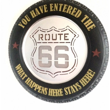 Route 66 – Vintage Tyre LED Metal Light Sign